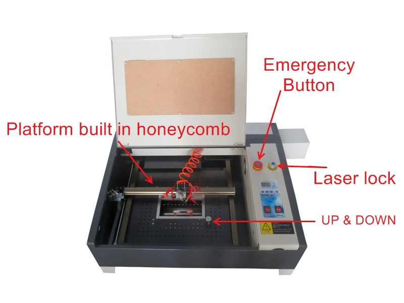 Free shipping to Russia 50W,220V/110V laser CNC router 3040m upgraded from 3040 laser cutting machine 50w 3040 co2 laser engrave machine laser marking machine cut plywood 50w laser free shipping