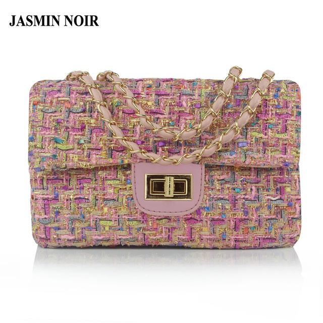 Jasmin noir aba de lã designer de marca famosa cadeia de saco do mensageiro das mulheres de luxo bolsa de ombro para senhoras inverno novo saco crossbody