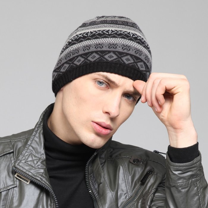 4fee4b9f91f Kenmont Men s Winter Wool Hat Sport Snow Knitted Beanie Hat KM 1345 01  Black-in Skullies   Beanies from Apparel Accessories on Aliexpress.com