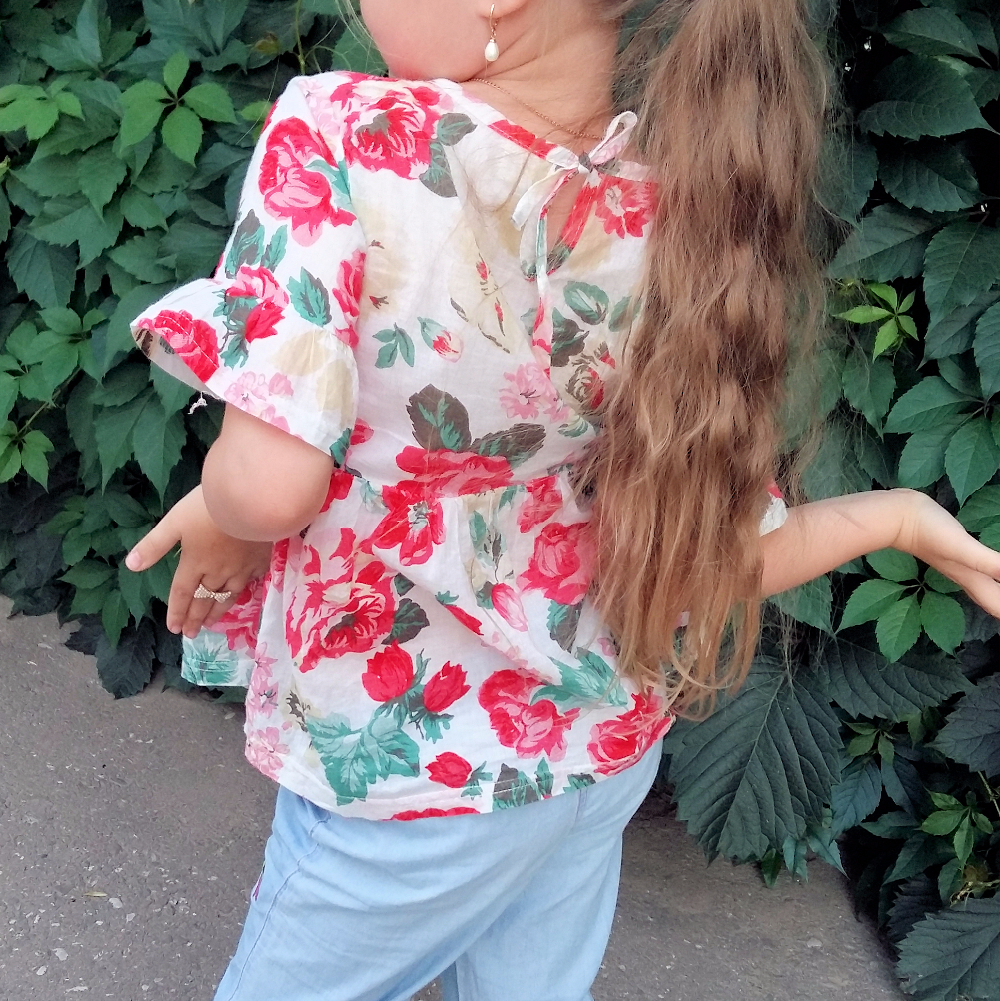 Beautiful Flower Children Girl Shirt Summer Chiffon Kids Girls Blouses Shirts Princess Baby Tops Clothes Clothing