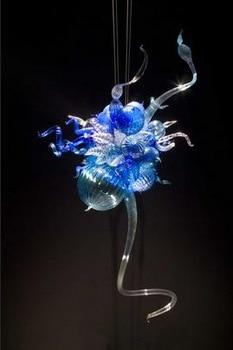 Mini Beautiful Glass Pendant Light Flower Shape LED Bulbs Hand Blown Murano Glass AC 110/120/220/240V