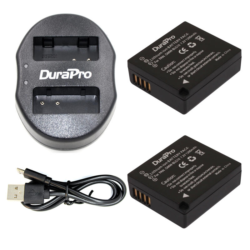 2-Pack DMW-BLG10 DMW BLG10 DMWBLG10 Camera Battery + USB Dual Charger for Panasonic BLG10E BLG10GK BLG10 DMC-GF6 DMC-GX7 GF6 GX7 стоимость