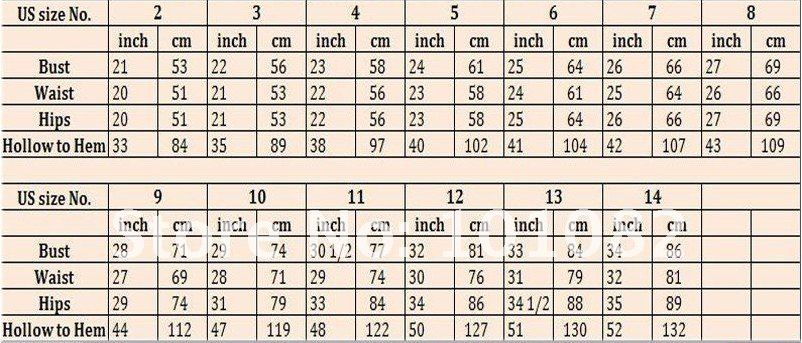 Flower Dress Size Chart Jpg