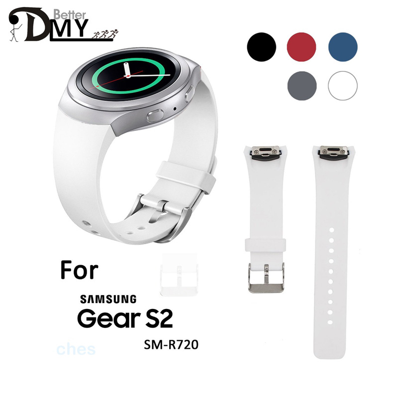 2016 Hot Sale Wristband WatchBand New Arrival relogio Luxury Silicone Watch Band Strap For Samsung Galaxy Gear S2 SM-R720