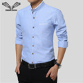 Men's Dress Shirts 2017 Spring Arrival European Stylish New Brand Long Sleeve Clothing Slim Fit Cotton Casual Men Shirt 5XL N211