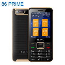 Original Servo V8100 2.8 inch Mobile Phone 4 SIM cards cell phones Bluetooth Flashlight MP3 GPRS Russian Language keyboard