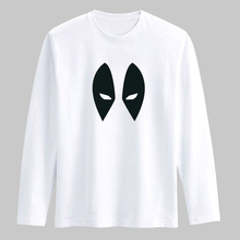 Black White Deadpool New Fashion T Shirt Men Long Sleeve Cotton T-shirt with Dead pool TShirt Men Luxury Brand in Tees and Tops