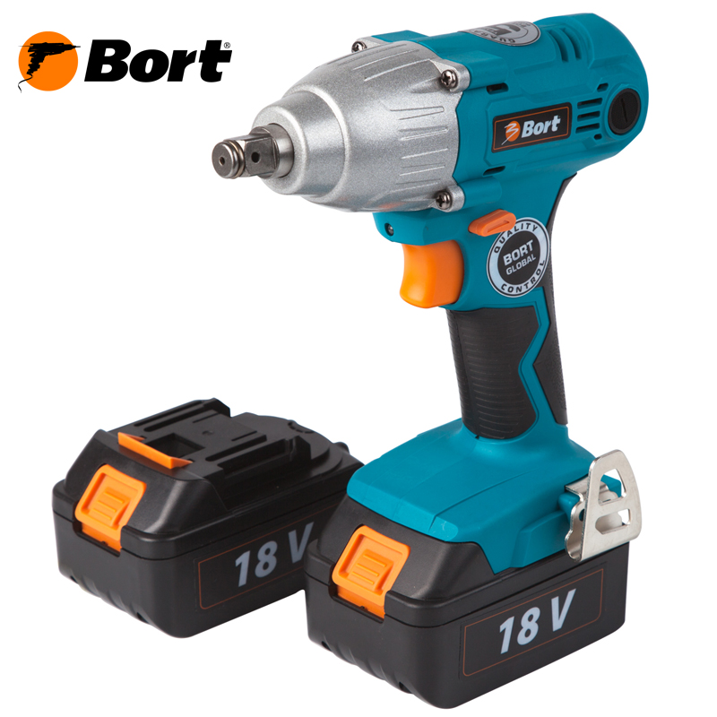 Cordless impact wrench Bort BAB-18I-LiDK lithium rechargeable electric wrench wrench cordless impact wrench scaffolding installation tool can change car wheel