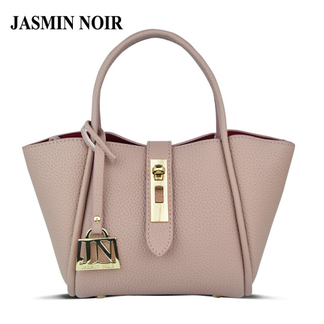 40f3690945f4 JASMIN NOIR Brand Women Leather Handbag female crossbody bag Designer Small tote  bag over shoulder Cute