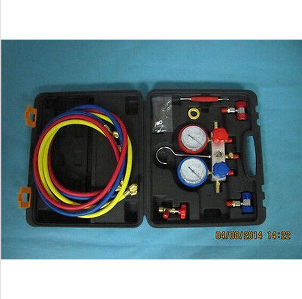 Цена за AC Манометр Набор Автомобильных Холодильных Двухстороннее Манометр MST-134A