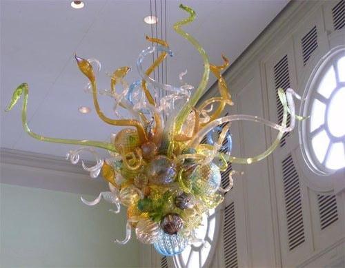 hand blown glass chandelier tiffany style flower design chandelier for home decor - Blown Glass Chandelier
