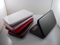 бесплатная доставка продажа 10 дюймов тетрадь ноутбук с Intel Atom d425 1.8 ггц памяти 2 г памяти DDR3 жесткий диск 500 гб ос Windows7 на цвет : белый, красный, розовый