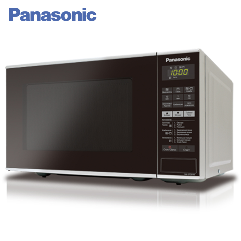Panasonic NN-GT264MZTE Microwave Oven with grill 1250W 18L Touch Control Panel On delay timer 9 Cooking Modes panasonic nr b510tg n8 refrigerator touch control panel the new generation econavi light sensor intelligent inverter