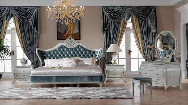 Witte Slaapkamer Meubels : Italië stijl europese klassieke witte en kingsize slaapkamer
