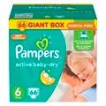 Подгузники Pampers Active Baby-Dry 15+ кг, 6 размер, 66 шт.
