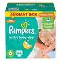 Fraldas para crianças bebê seco 15 kg + fralda pampers ativa 6 tamanho fraldas 66 pcs fraldas descartáveis do bebê