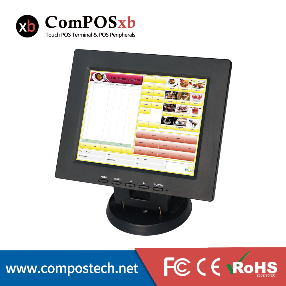 Factory Price 12 Inch Touch Screen HD 800x600 VGA PC Pos Monitor With Highlight Use LED Backlight Low-Energy