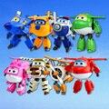 8 Estilo 15 cm ABS Transformación Robot Súper Alas Avión juguetes Figuras de Acción Super Ala Chorro De Animación Niños Embroma el Regalo