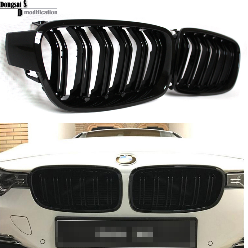 1 Pair F30 Car Styling Grill M3 Style F31 Kidney Black Replacement Grille For BMW F30 F31 2012+ 320i 325i 328i 335i Gloss Black egr emission control valve for bmw 3er e46 323i 325i 328i 30i 11727553063