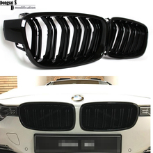 1 Pair F30 Car Styling Grill M3 Style F31 Kidney Black Replacement Grille For BMW F30 F31 2012+ 320i 325i 328i 335i Gloss Black