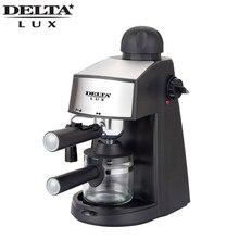DL-8151K кофеварка рожковая, функция капучино, давление 5 бар. Вместимость 240мл, 800Вт. Съемный многоразовый фильтр из нержавеющей стали. Съемный моющийся поддон, шкала уровня воды.Световой индикатор