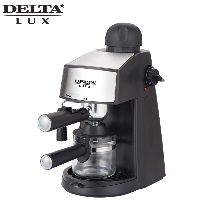 DL-8151K Coffee maker machine black drip, cafe household american plastic material, full automatic, work indicator dl t06a 220v 50hz fully automatic multifunctional bread machine intelligent and face yogurt cake machine 450g 700g capacity 450w