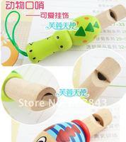 деревянные свисток дети музыкальная игрушка животные цветной рисунок или узор мобильный телефон повесить украшают рюкзаки