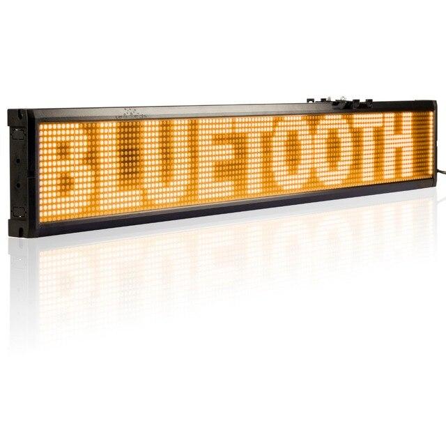 40x6.3 дюймов Android Мобильного Телефона Удаленного Bluetooth Программируемые Светодиодные Рекламные Табло для Бизнеса И Магазин