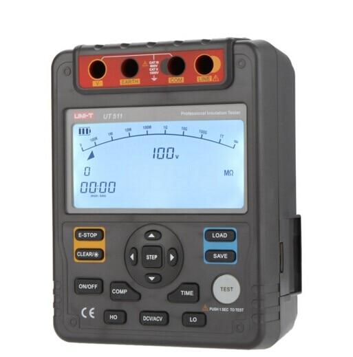 UNI-T UT511 Digital Insulation Resistance Testers Meter Megohmmeter Low Ohm Ohmmeter Voltmeter Auto Range 1000V 10G ohm