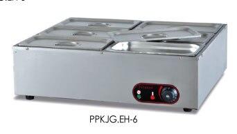 Buffet De Chauffe Plats | PKJG-EH6 Bain électrique Marine En Acier Inoxydable Chauffe-plats Comptoir électrique Buffet Soupe Chauffe-plats