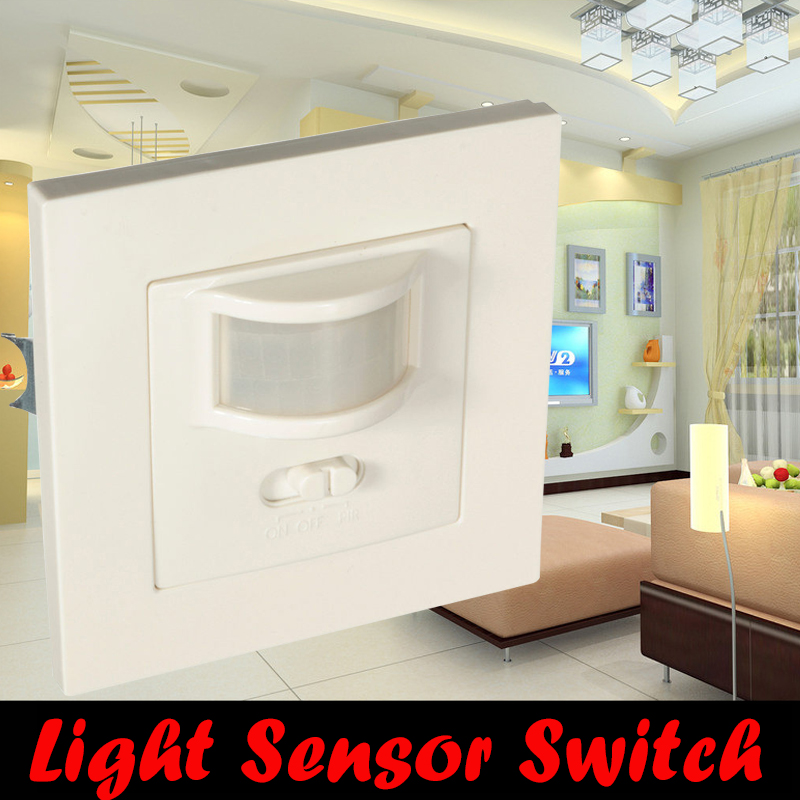 2016 Low saving Occupancy Sensor 140 Degree PIR Motion Light Switch Ceiling Recessed 600w Max For Toilet Kitchen Stair high quality wall mounted pir motion sensor light switch max 600w load 9m max distance 1pc gs45