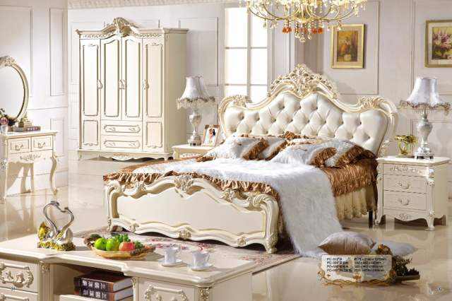 Online Shop Bed Design Classic Furniture European Style Girl Bedroom - Girls-bedroom-furniture-style
