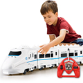 Music RC Train Toy Electric Remote Control Rail 4W RC Car Model Train For Kids Gift Railway Track Train Toys without box