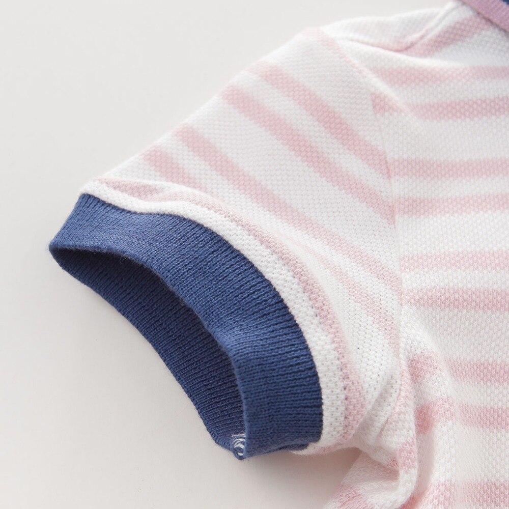 DB3780 dave bella yaz erkek bebek 100 pamuk t gömlek bebek giysileri - Çocuk Giyim - Fotoğraf 5