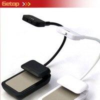 ZX Hot Sale Mini Clip On E Book Reading LED Lamp Flexible Bright Portable Utility Battery