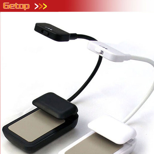 ZX Hot Sale Mini Clip-On LED E-book Reading Lamp Flexible Bright Light Convenient Portable Battery Powered Eye-protective