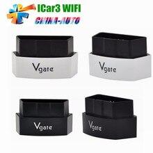 20 шт./лот DHL Бесплатная Vgate iCar3 Wi-Fi ELM327 Vgate iCar3 Wi-Fi OBDII ELM327 Авто OBD2 Сканер Автомобиля Диагностический Интерфейс Для IOS