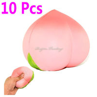 10 Pieces Lot Squishy Slow Rising Kawaii Phone CellPhone Straps Pink White Peach Pendant Sweet Cream