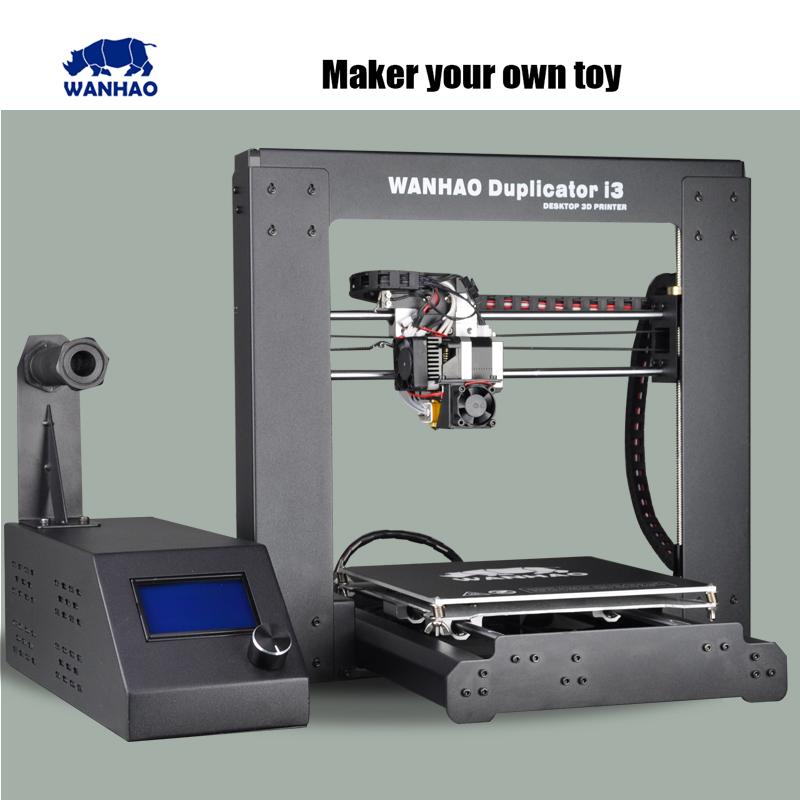 2015 Upgraded Quality High Precision wanhao Prusa i3 V2 DIY 3d Printer kit with LCD