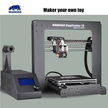 2015 actualizado calidad alta precisión wanhao Prusa i3 V2 bricolaje kit de impresora 3d con LCD