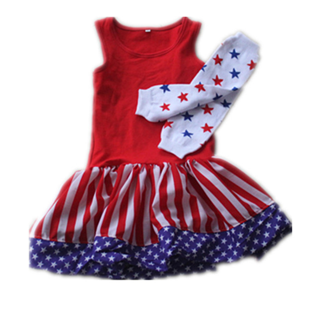 8cc56bdf6dc 4th Of July Summer Clothes Girl Clothing Wholesale Kids Girl Clothing 2016  Kaiya Angel Higher Quanlity Newborn Clothes