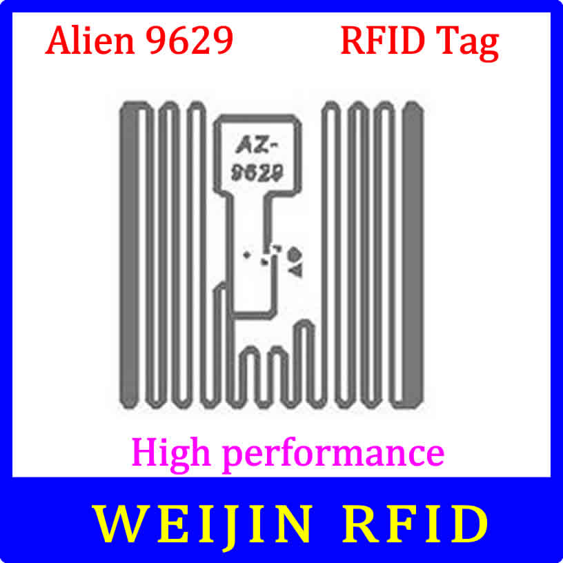 Alien 9629 UHF RFID  Dry Inlay 860-960MHZ Higgs3 915M EPC C1G2 ISO18000-6C,can Be Used To RFID Tag And Label