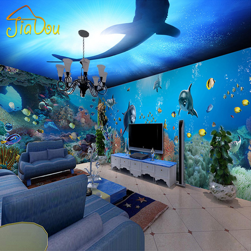Compare prices on shark wall mural online shopping buy for Diving and fishing mural