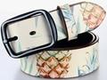 High Quality Vintage Style Genuine Leather Belt For Unisex Colorful Printed Spilt Leather Belt Men Women Digital Printing Belt