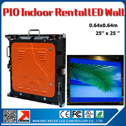 TEEHO Indoor rental led wall P10 0.64x0.64m 1/8scan die-cast aluminum rental cabinet panel full color video panel wedding hotel
