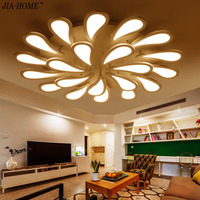 2017 New Peacock Tail Ceiling Lamps For Living Room Bedroom Art Square Acrylic Ceiling Chandelier Lamp