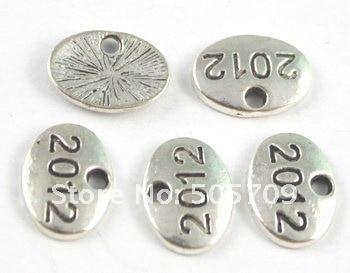 450 шт тибетские серебряные бусины номер 2012 Подвески A15592