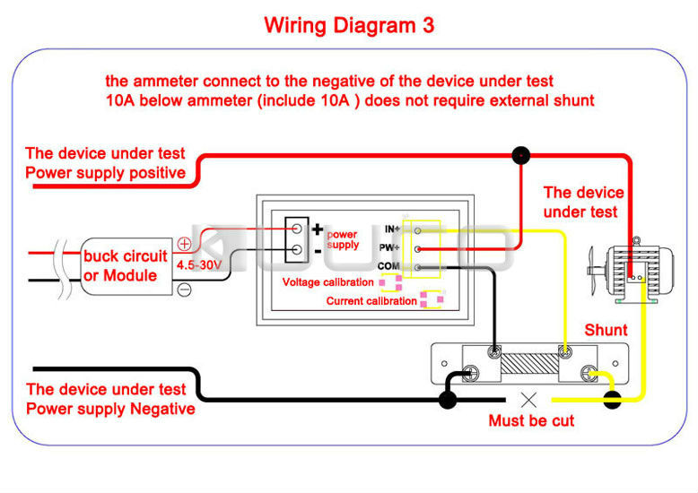 UT8RQyEXaxbXXagOFbXf aliexpress com buy 2in1 digital tester dc 0 ~100v 5a ammeter 12v voltmeter wiring diagram at gsmx.co