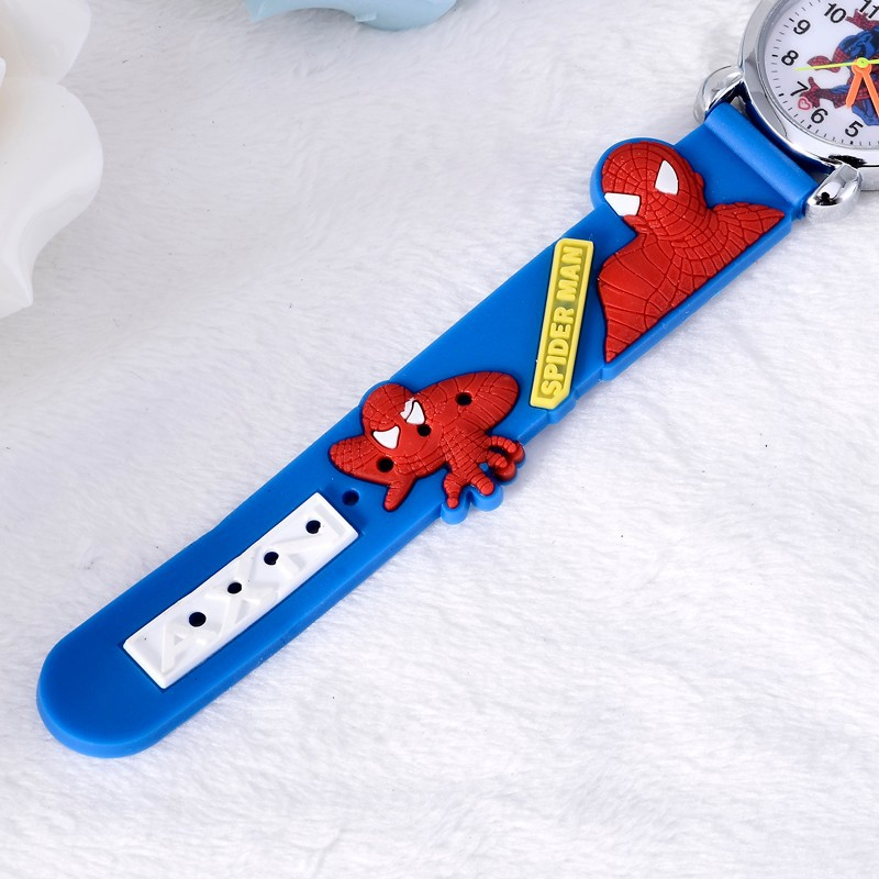3D Rubber Strap Spiderman Children Watch Kids Cartoon Sports Quartz Wristwatch for Boys Clock Montre Enfant reloj infantil