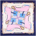 Chain Square Scarf Women Silk Scarves Color Patchwork Sunscreen Shawls Brand New